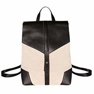 NEW Deux Lux Demi Backpack Black White